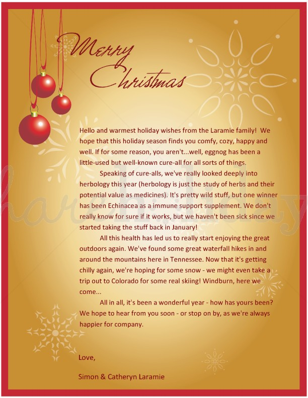 """writing a christmas letter Youtube christmas letters (see below) – amusing digital christmas letters saved on youtube for more samples of christmas letters, check out the book, """"ideas for writing creative christmas letters"""" by janet colbrunn."""