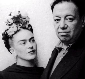 Artists Frida Kahlo and Diego Rivera
