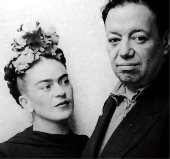 Artists Frida Kahlo and Diego Rivera